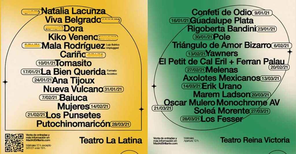 conciertos Madrid Brillante Teatro la Latina