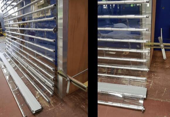 rideau de protection transparent