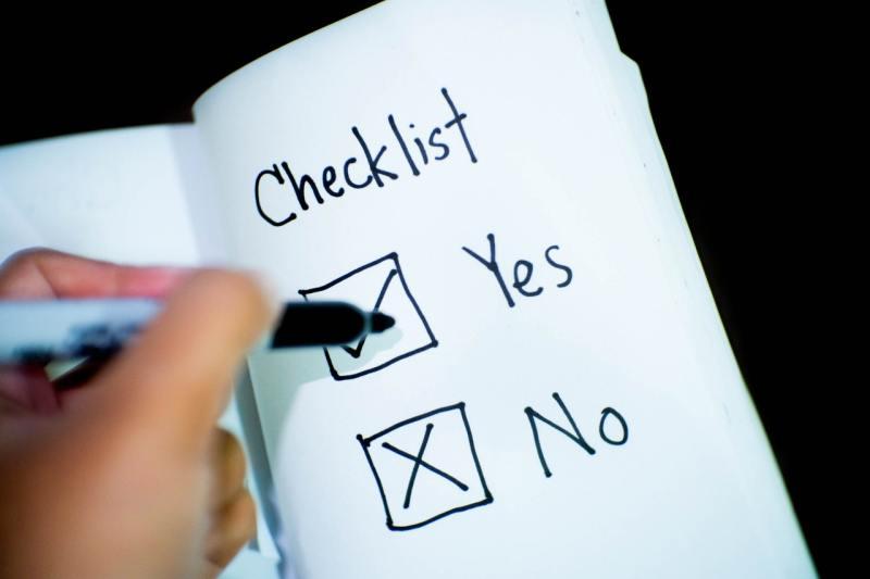 Checklist des conditions d'obtenion de la prime