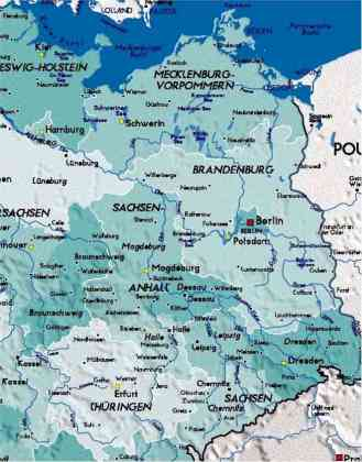 Detailed Map of East Germany