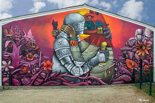 Mural en Fleury Les Aubrais, Francia