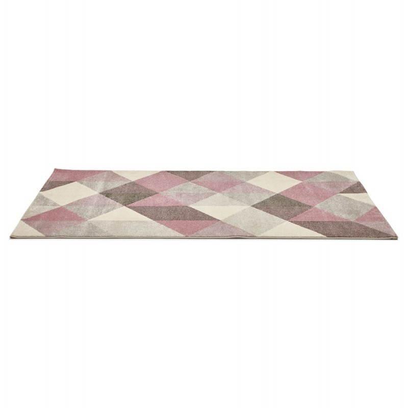 tapis design style scandinave geo rose