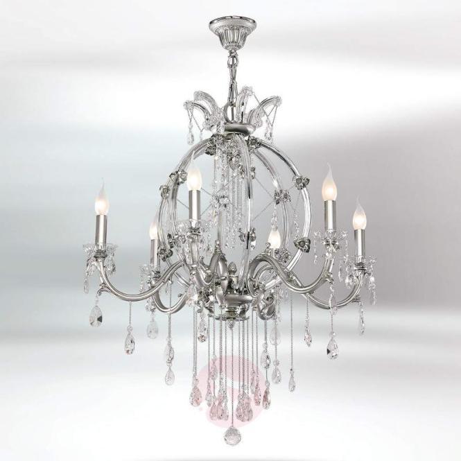 Sumpuous 6 Bulb Crystal Chandelier Trina