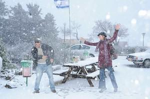 neige au kibboutz el rom a