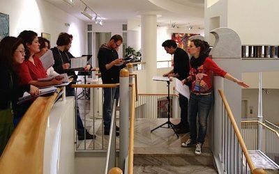 Ein Bürohaus wird zur Klangkathedrale