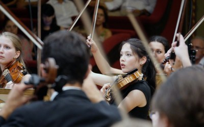 Feierlaune im Konzertsaal