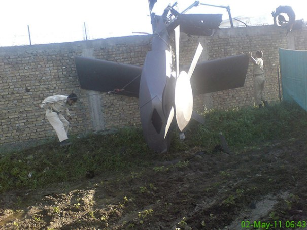 Wreckage of the Tail Rotor of the Stealth BlackHawk downed