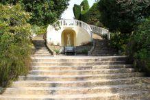 Horseshoe-shaped stairs at Villa Ephrussi de Rothschild
