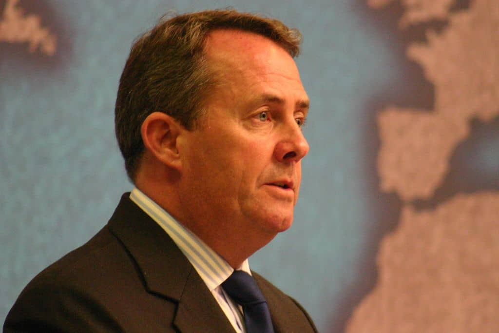 60% Chance of No-Deal Brexit, Liam Fox Forecasts Blaming European Commission