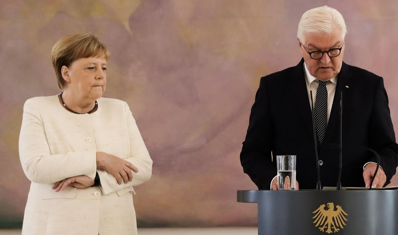 German Leader Merkel Seen Shaking for Second Time in 10 Days