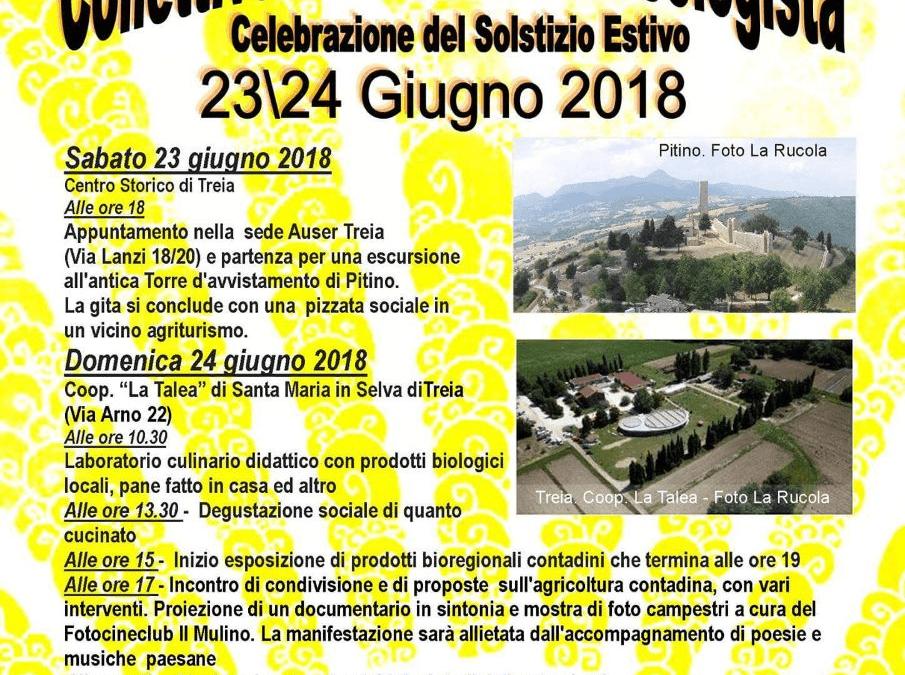"""Il solstizio della vita – Treia, 23 e 24 giugno 2018: """"Collettivo Bioregionale Ecologista"""""""