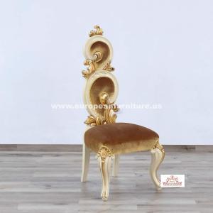 Eternal Flame Chair Gold Velvet