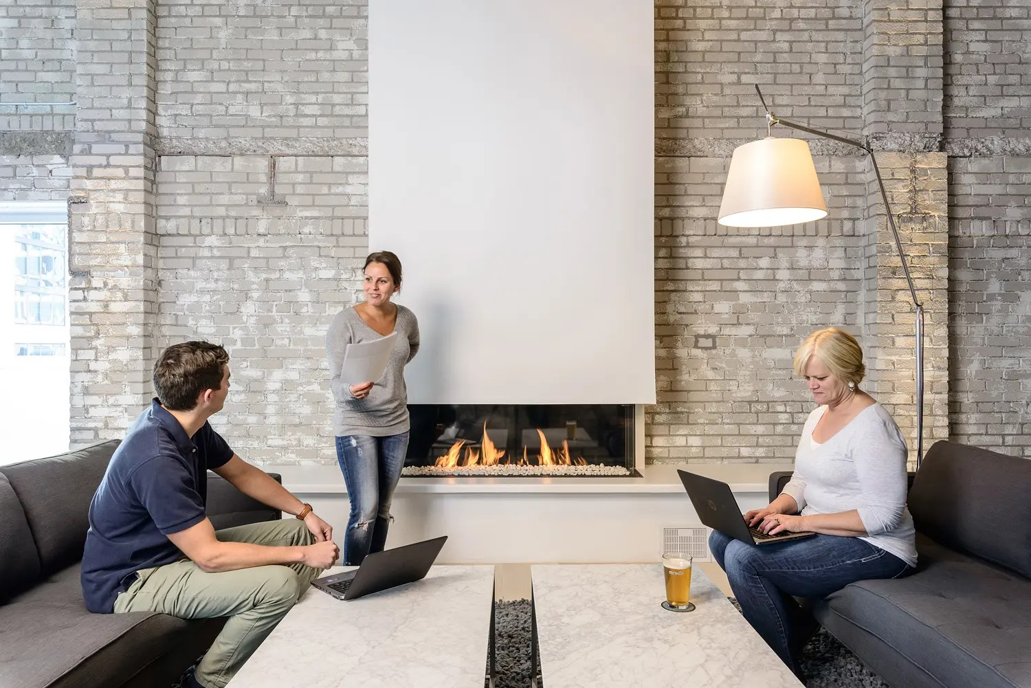 8 Tips For Breaking Up A Large Wall With A Linear Fireplace