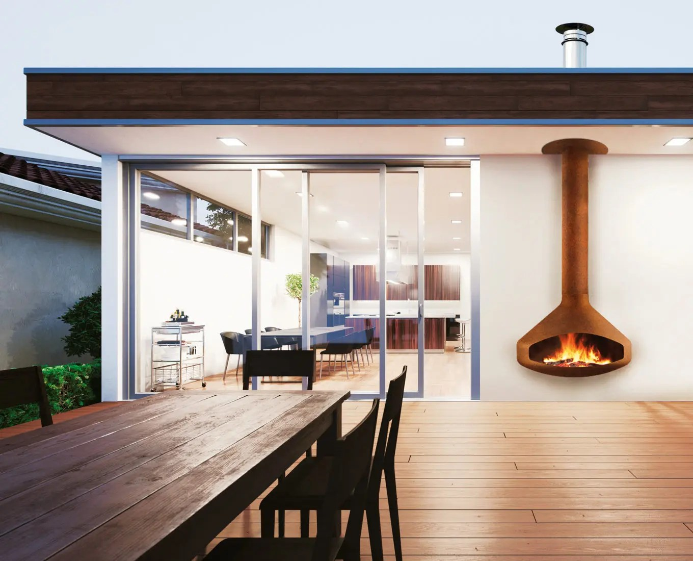 Paxfocus Outdoor By Focus Fires Wall Mounted Outdoor