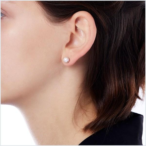 Euro Pearls 7mm Akoya Pearl Stud Earrings