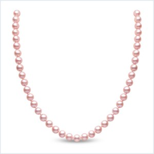 Euro Pearls 6mm Pink Freshwater Pearl Necklace