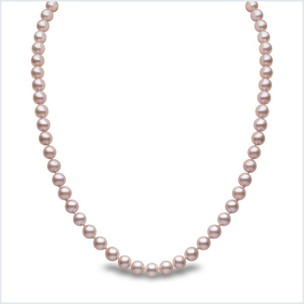 Euro Pearls 6mm Pink Freshwater Pearl Neckalace