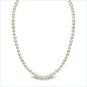Euro Pearls White Freshwater Pearl Necklace