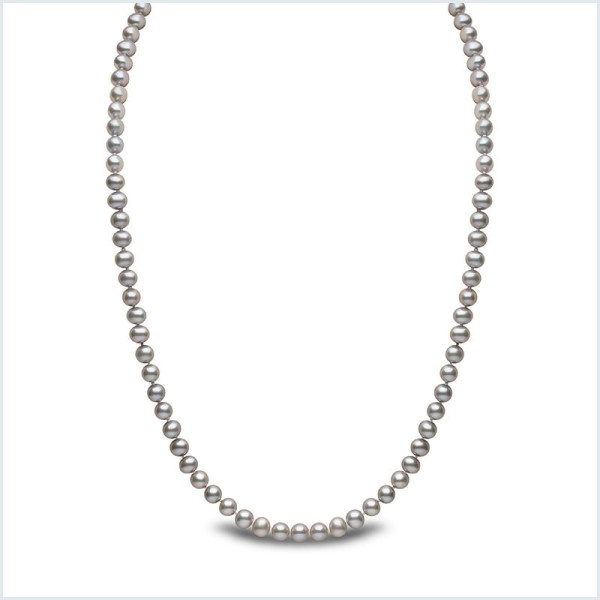 Euro Pearls 5mm Grey Freshwater Pearl Necklace