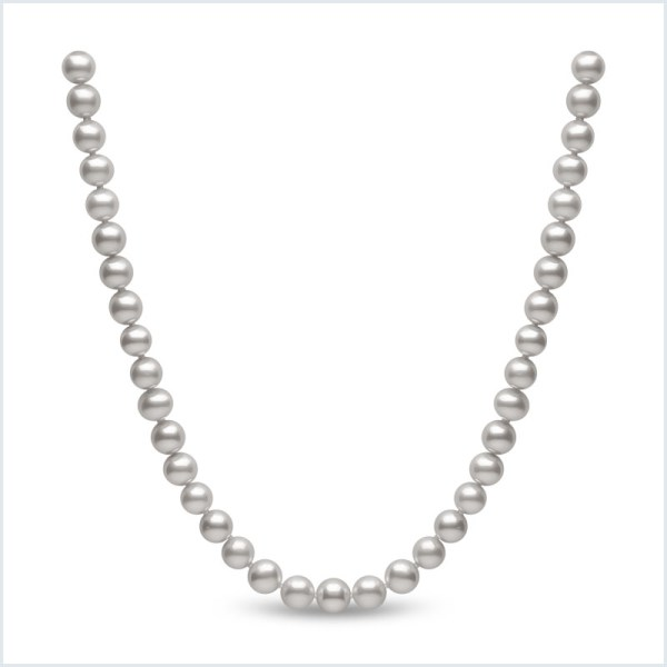 Euro Pearls 8mm Grey Freshwater Pearl Necklace
