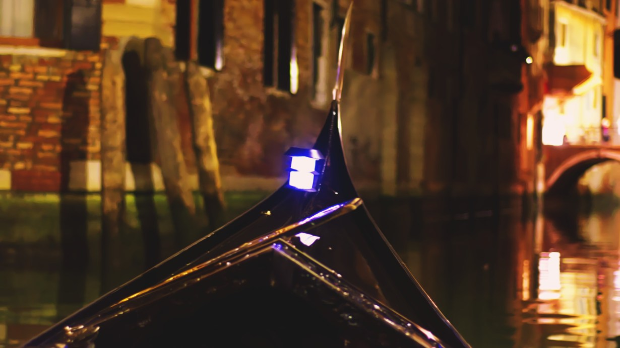 An evening Gondola ride in Venice
