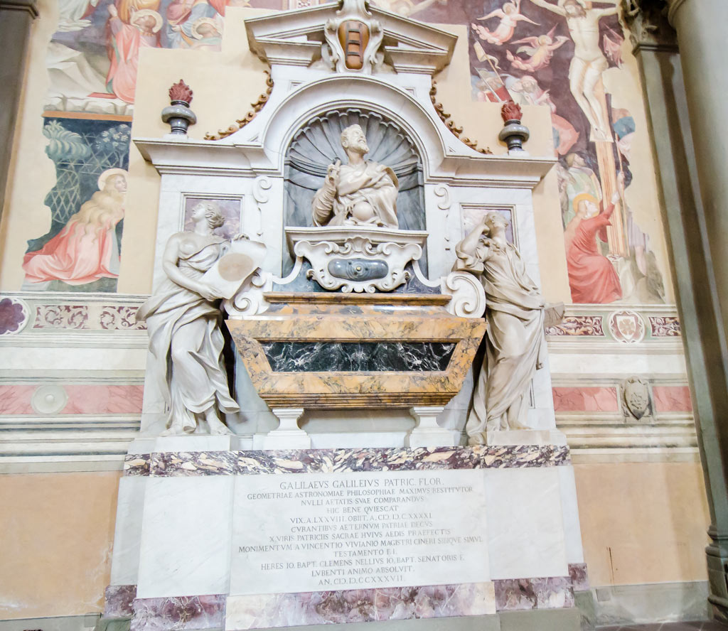 Galileo's Tomb inside the Santa Croce