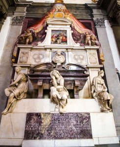 Michelangelo' Tomb in the Sante Croce Cathedral in Florence