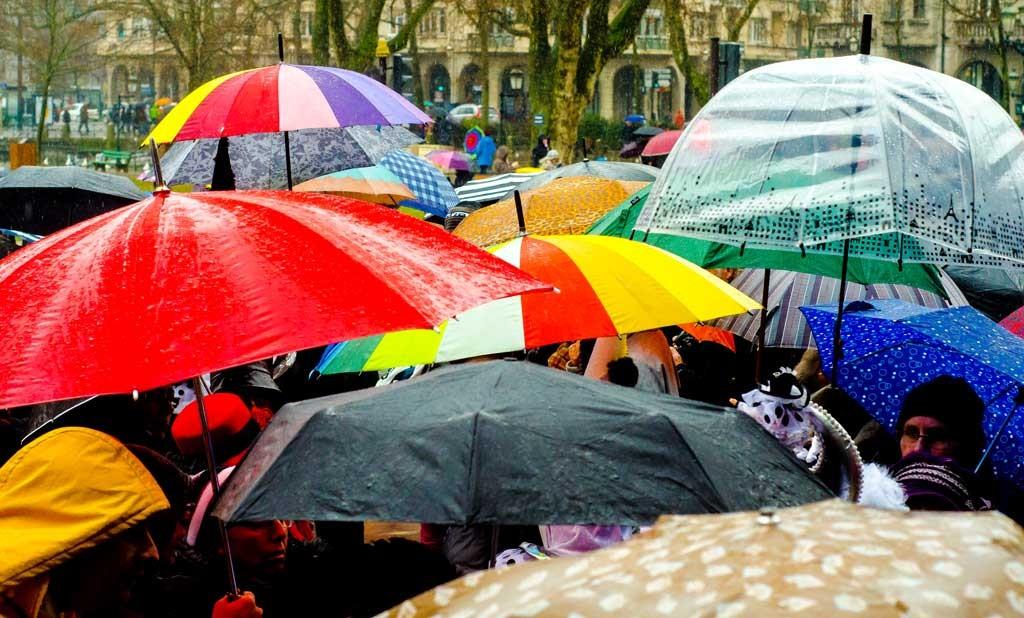 Umbrellas at the Venetian Carnival