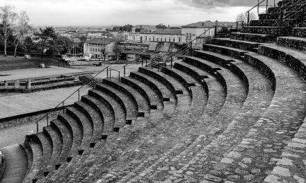 A Black and White Tour Of The Grand Roman Theatre of Lyon