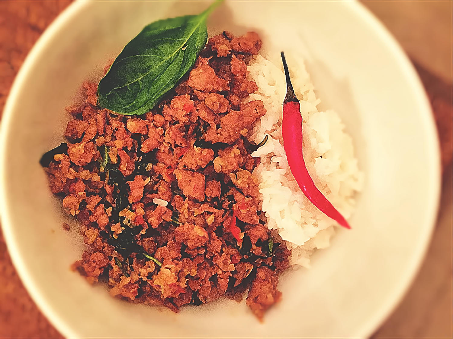 Pad Kra Prao Moo recipe. Thai minced pork recipe.