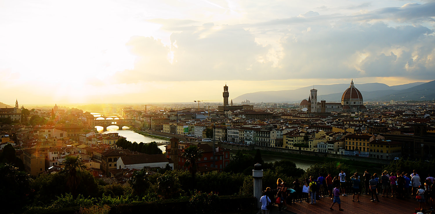 Sunset At Piazzale Michelangelo Europe Is Our Playground