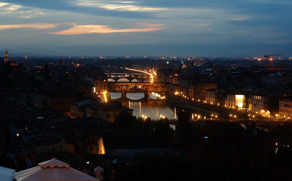 Sunset over The Ponte Vecchio From Piazzale Michelangelo
