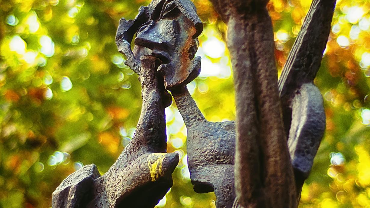 Le poète - a homage to the French poet Paul Eluard (1954) by Russian artist Ossip Zadkine (1890-1967) in the The Jardin du Luxembourg in the 6th arrondissement of Paris