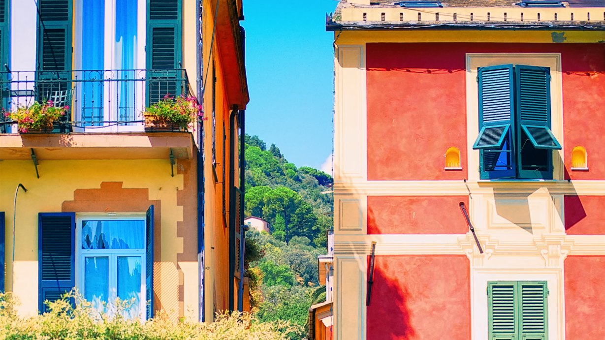 Colourful Houses in Portofino