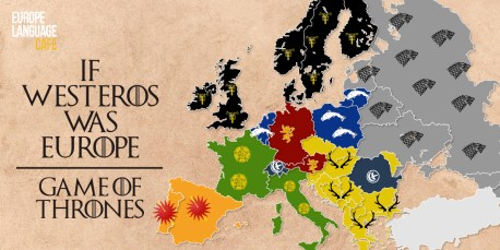 Game of Thrones: If Westeros was in Europe (no spoilers)