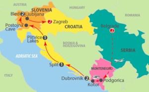 Serbia Montenegro Croatia & Slovenia