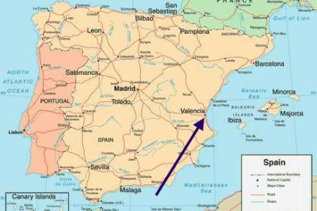 valencian community location on the spain map » Full HD MAPS ...