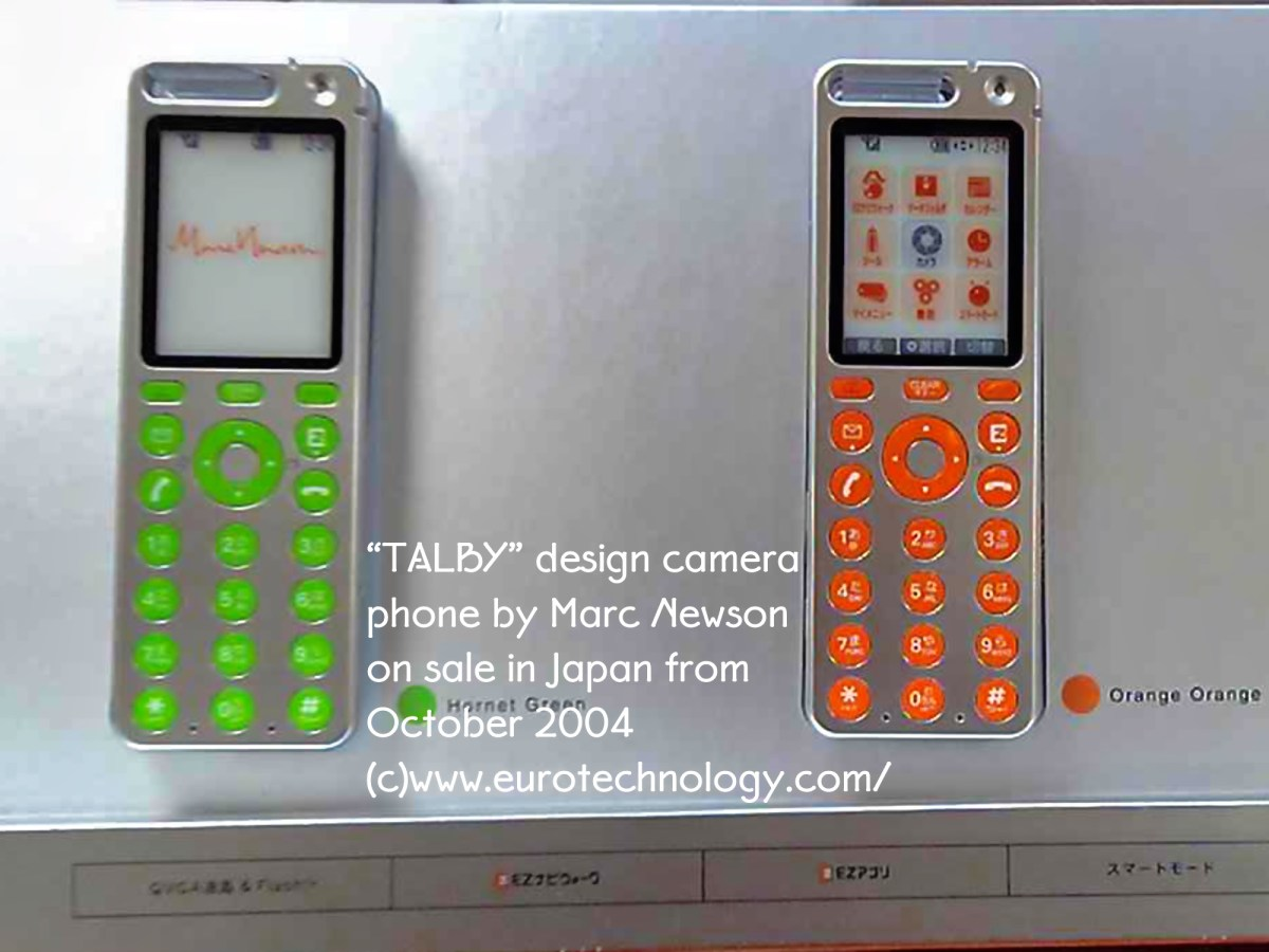 Marc Newson designed Talby concept phone announced by KDDI