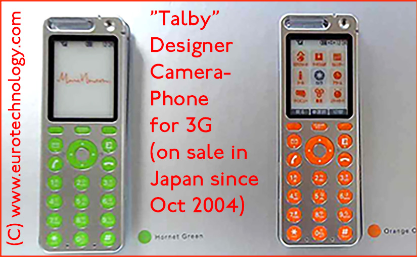 TALBY concept phone by Marc Newson for KDDI/au