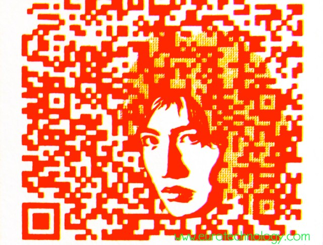 Customized QR code using in-built redundancy to display color and embedded graphics