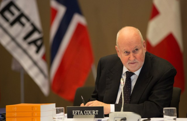 Former President of the EFTA Court, Carl Baudenbacher