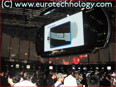 SONY PSP arena previewing the PSP at Tokyo Game Show TGS2004