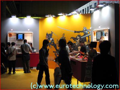 SquareEnix at DoCoMo's exhibit at Tokyo Game Show TGS2004