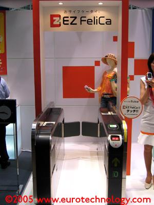 EZ-FeliCa: RFID mobile payment gates for KDD-AU mobile phones