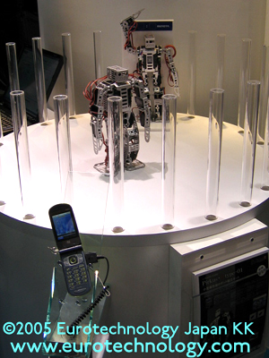 Mobile phones control robots