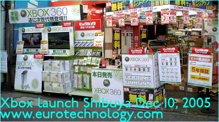 XBOX launch in Tokyo Shibuya on Dec 10, 2005