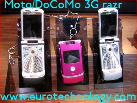 Motorola's RAZR for NTT docomo's 3G network