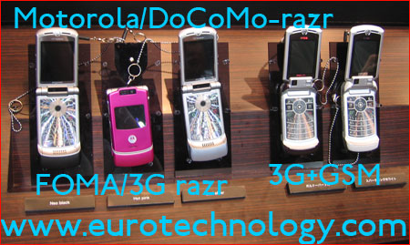 Motorola's RAZR for NTT docomo
