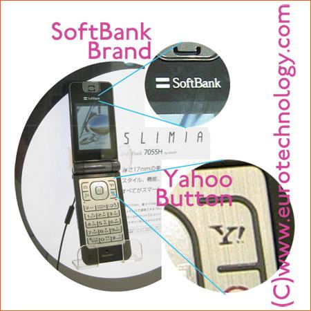 Yahoo! button on SoftBank phones