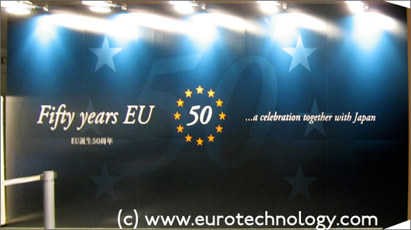 Celebration of the foundation of the EU 50 years ago with the Treaty of Rome
